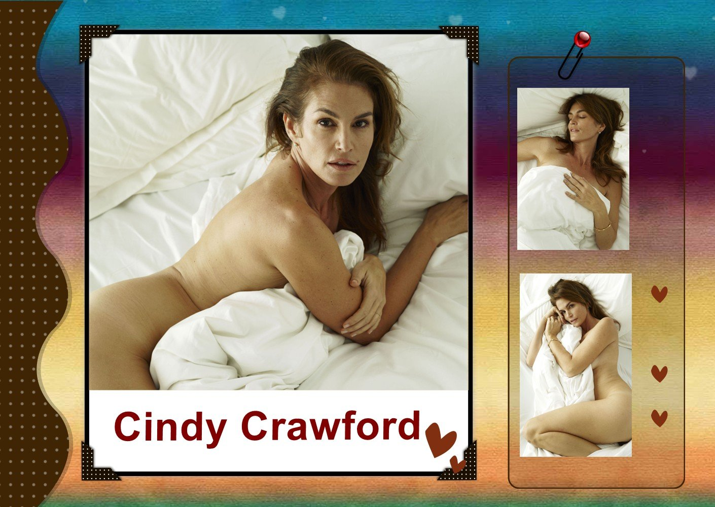 For that Cindy crawford new nude photos consider, that