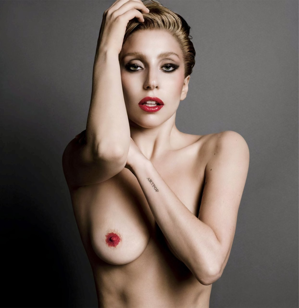 lady gaga wet nude
