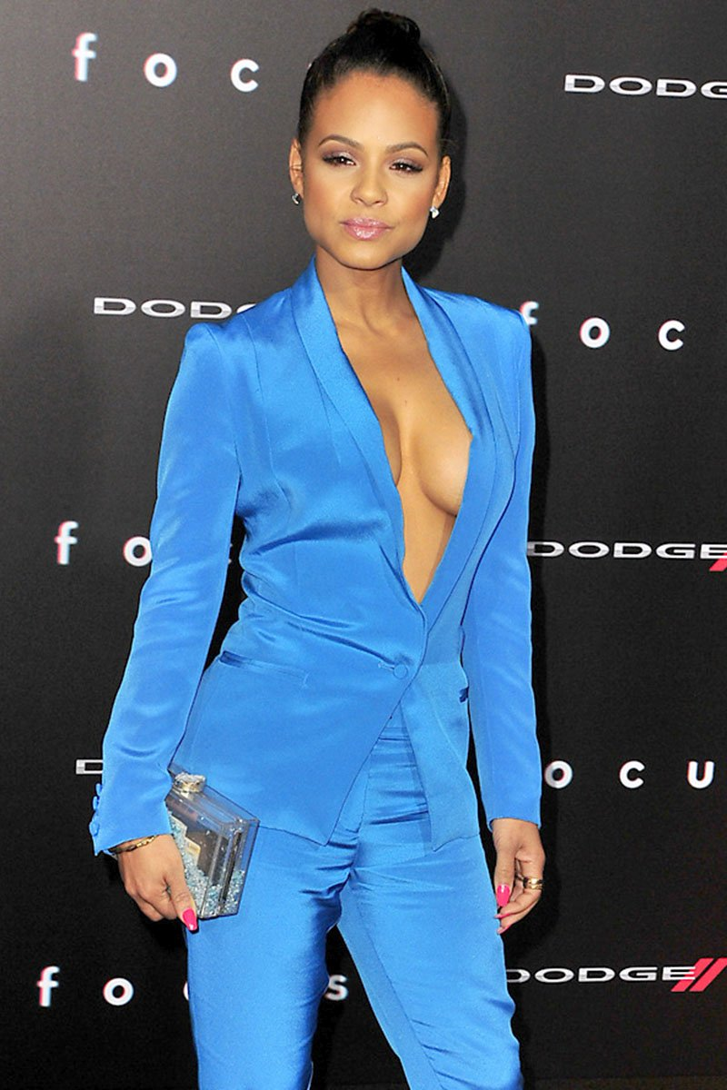 Does Christina milian naked breasts are