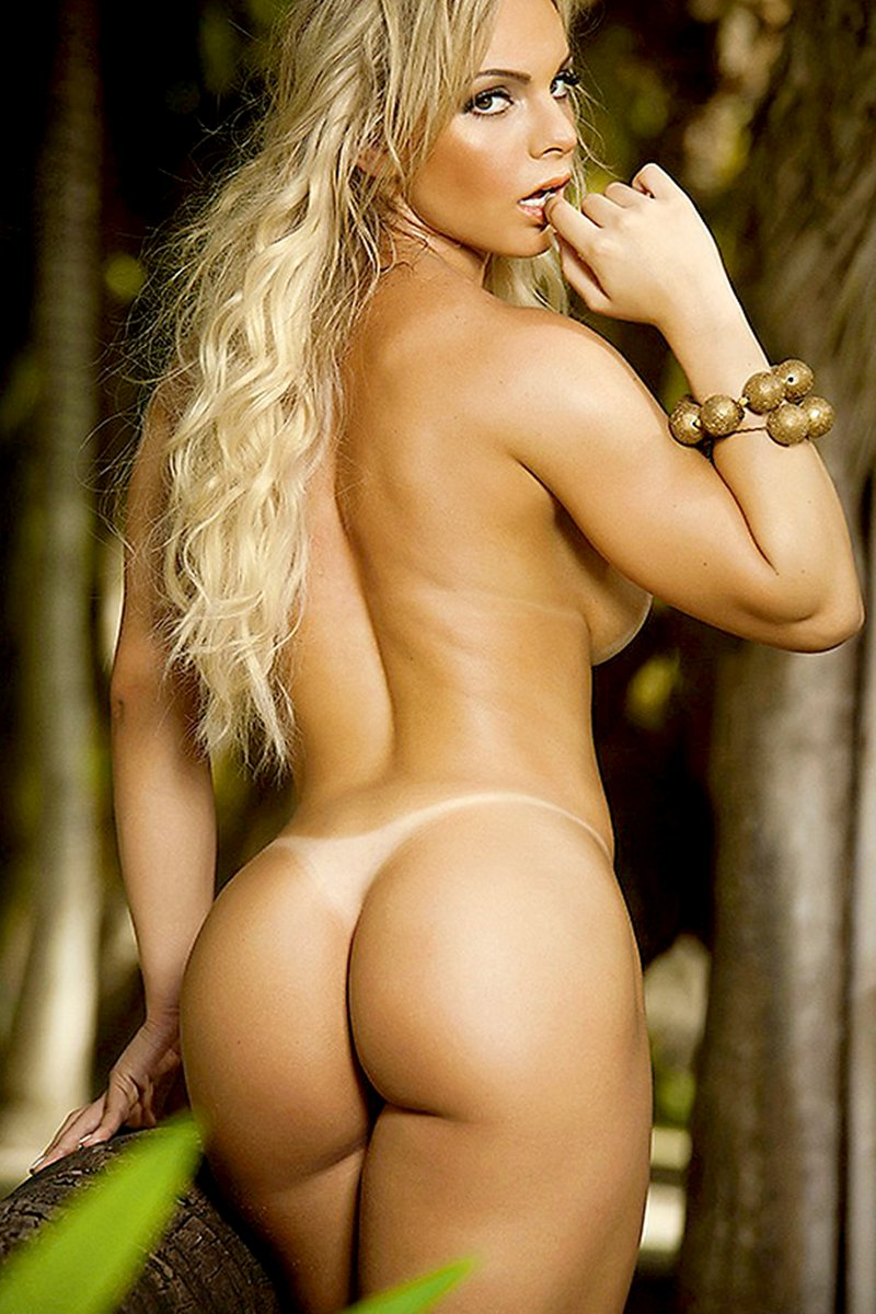 Beautiful nude brazilian booty
