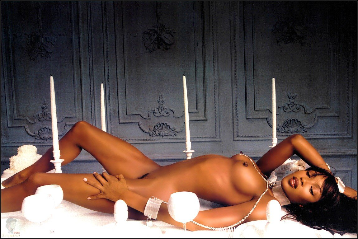 naomi campbell naked in playboy