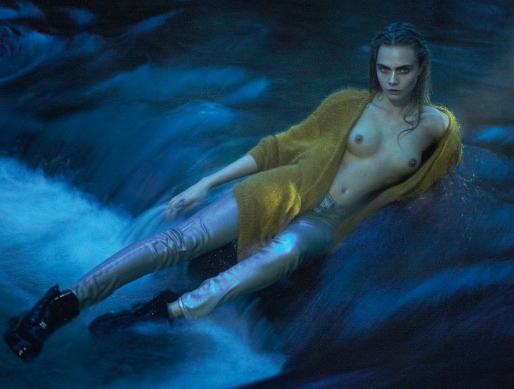Cara Delevingne Topless 01