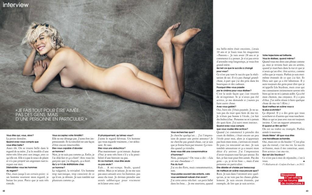 Lea Seydoux Naked (4 Photos)