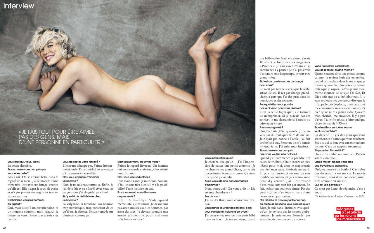 Lea Seydoux nude ass interview