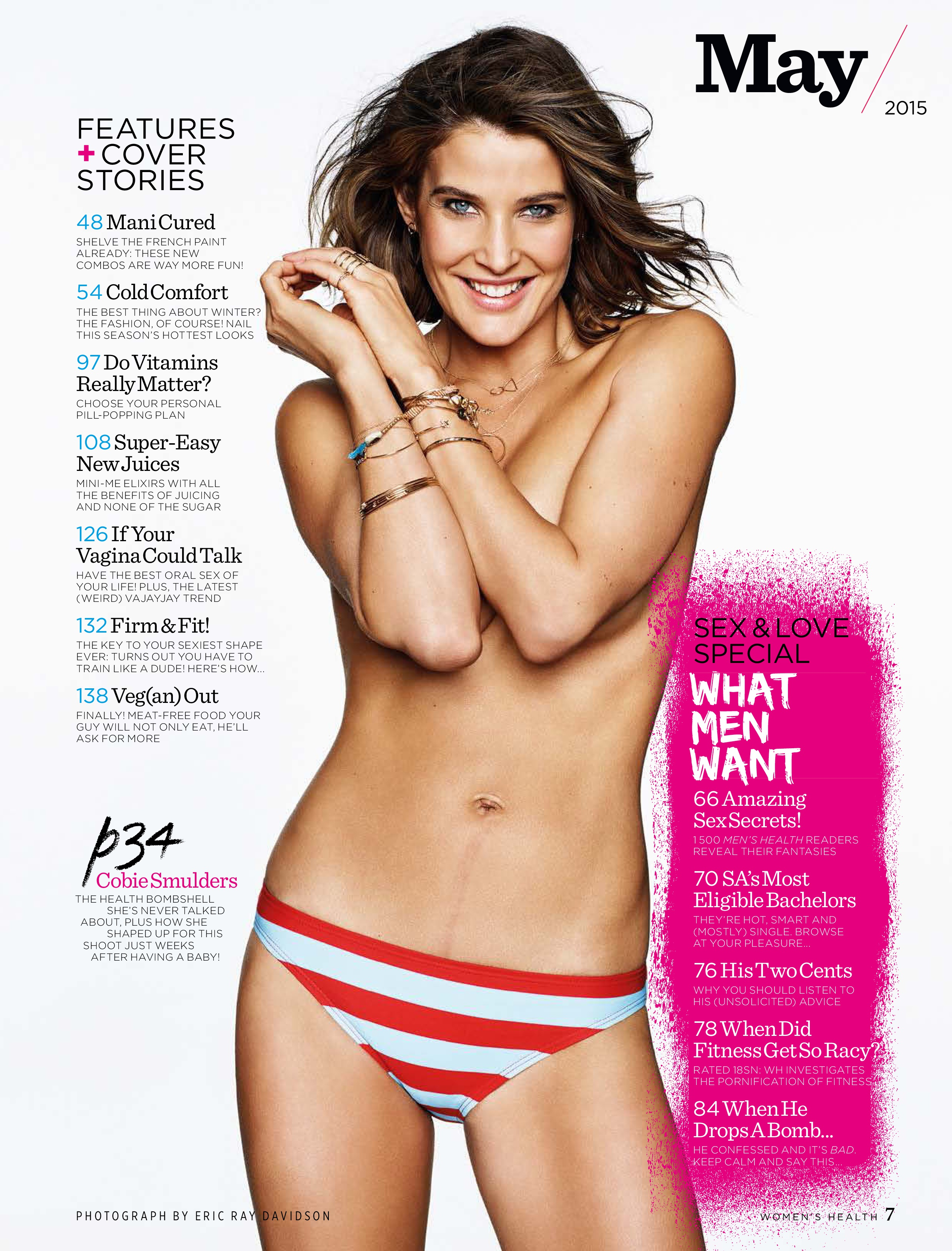 Cobie Smulders Topless (4 Photos)