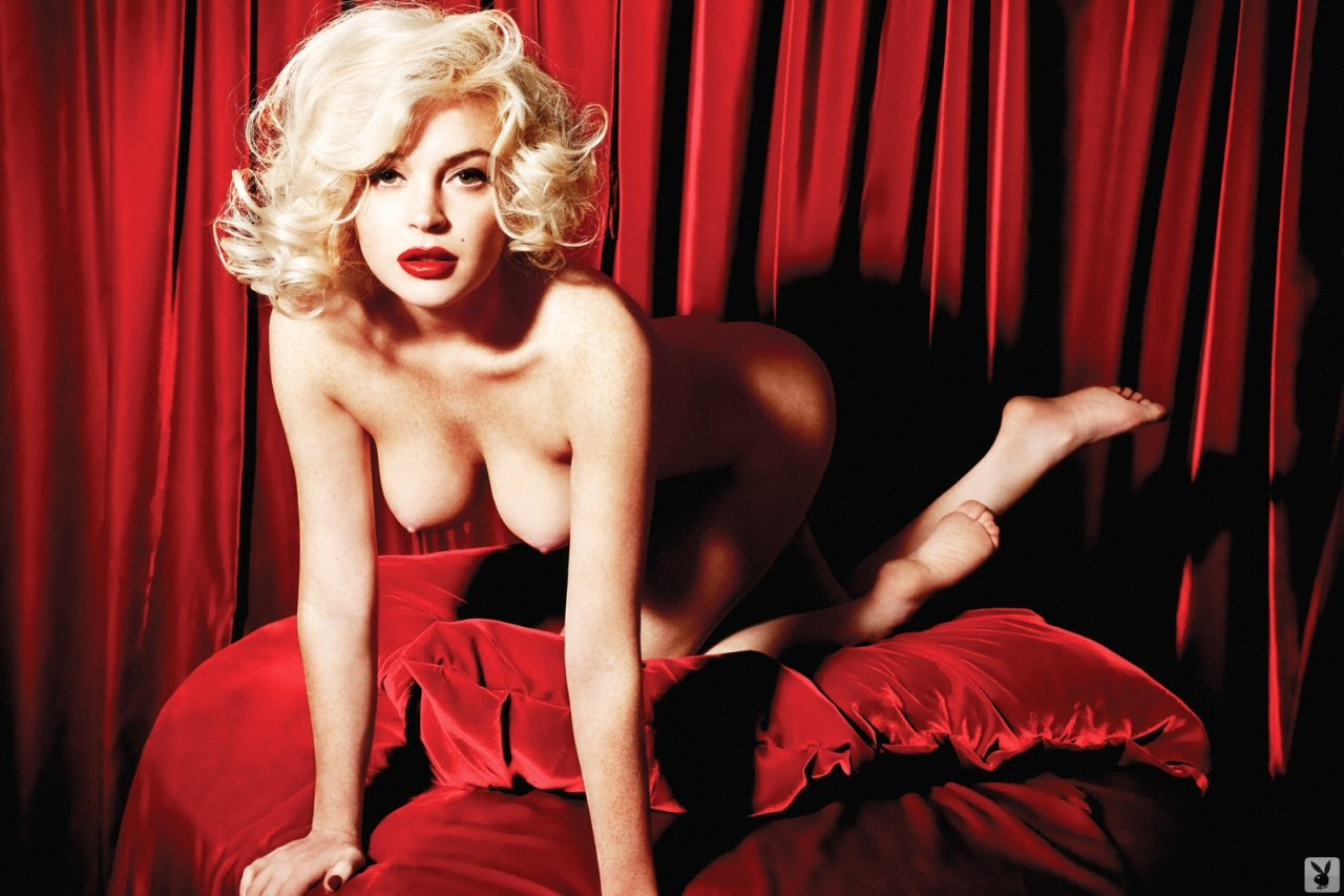Lindsay Lohan Poses Nude – as Marilyn Monroe
