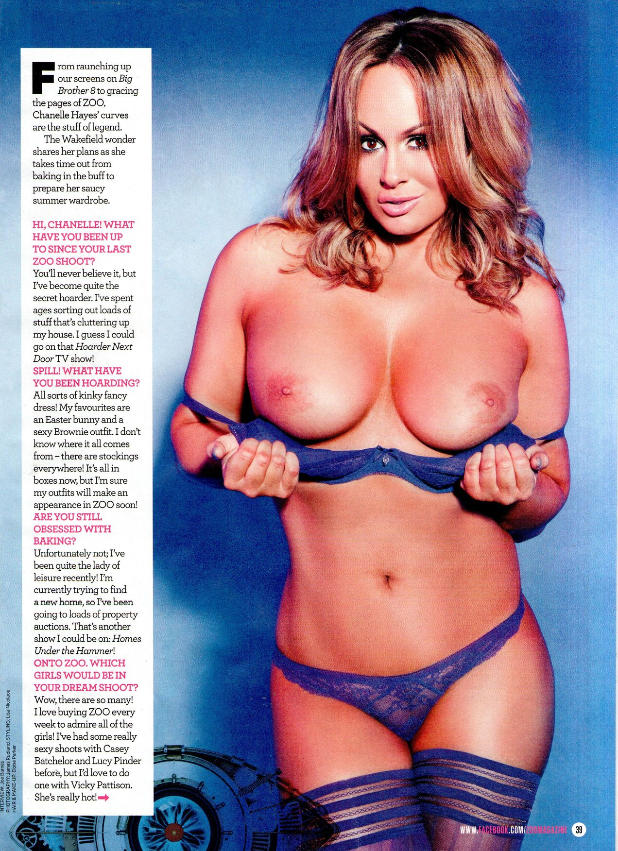 Chanelle Hayes Topless (7 Photos)