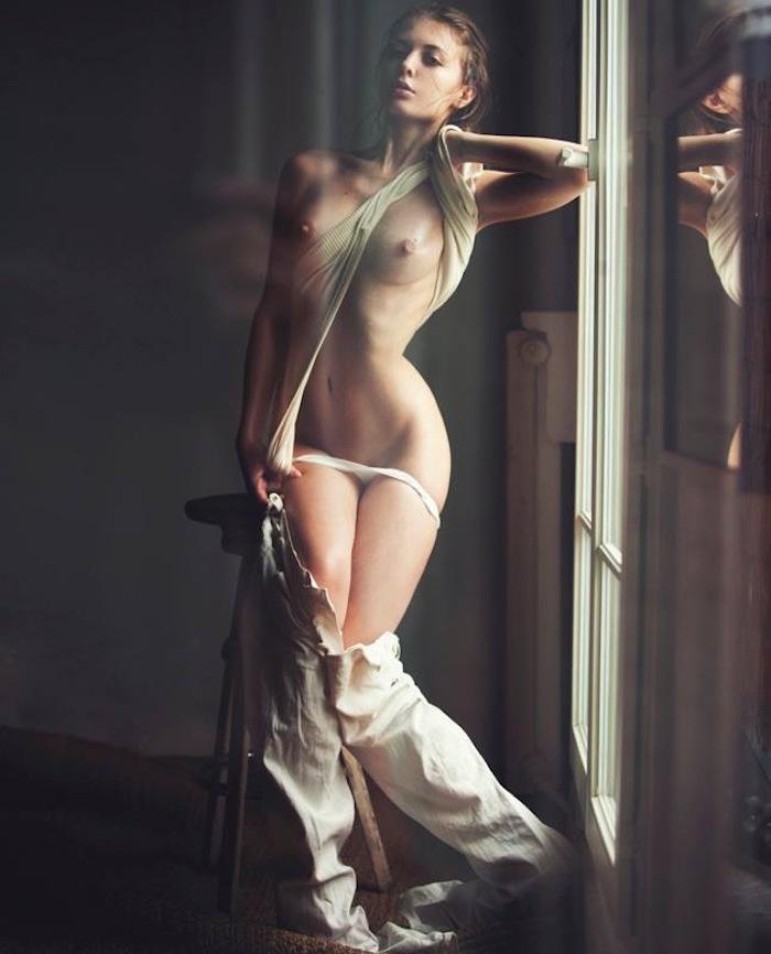 Outdoor nude blonde