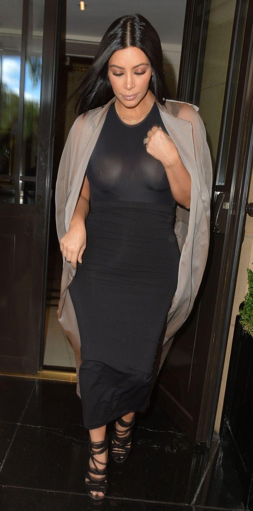Kim Kardashian See Through (21 Photos)
