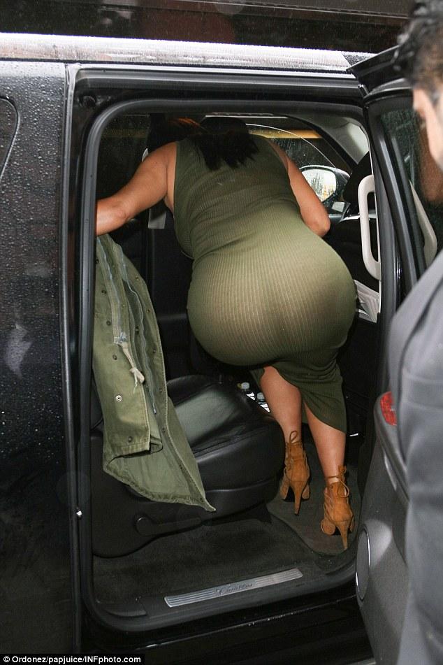 through dress ass See
