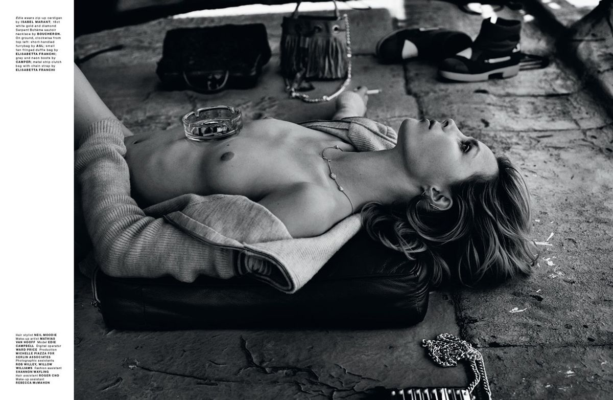 Edie Campbell Topless (6 Photos)