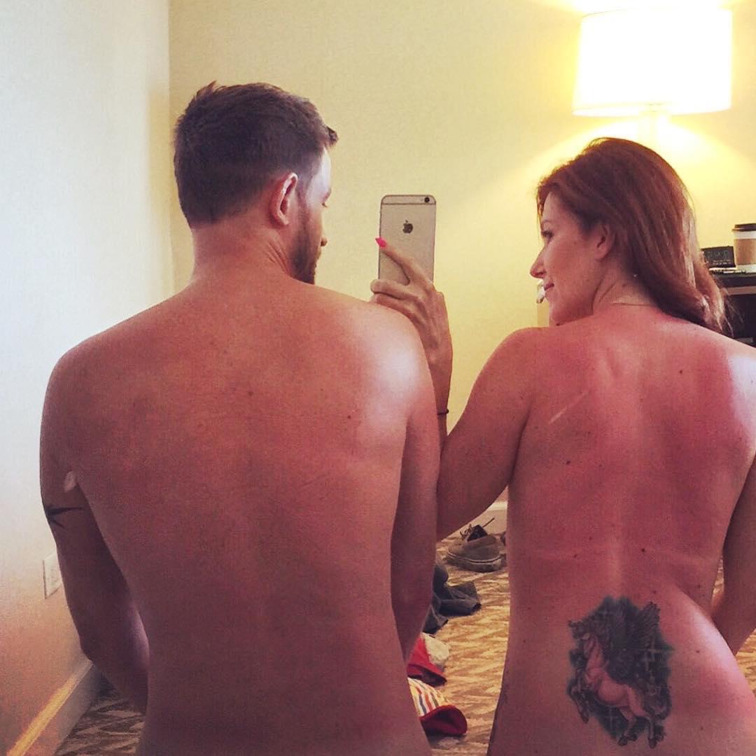 Jewel Staite Topless (2 Photos)