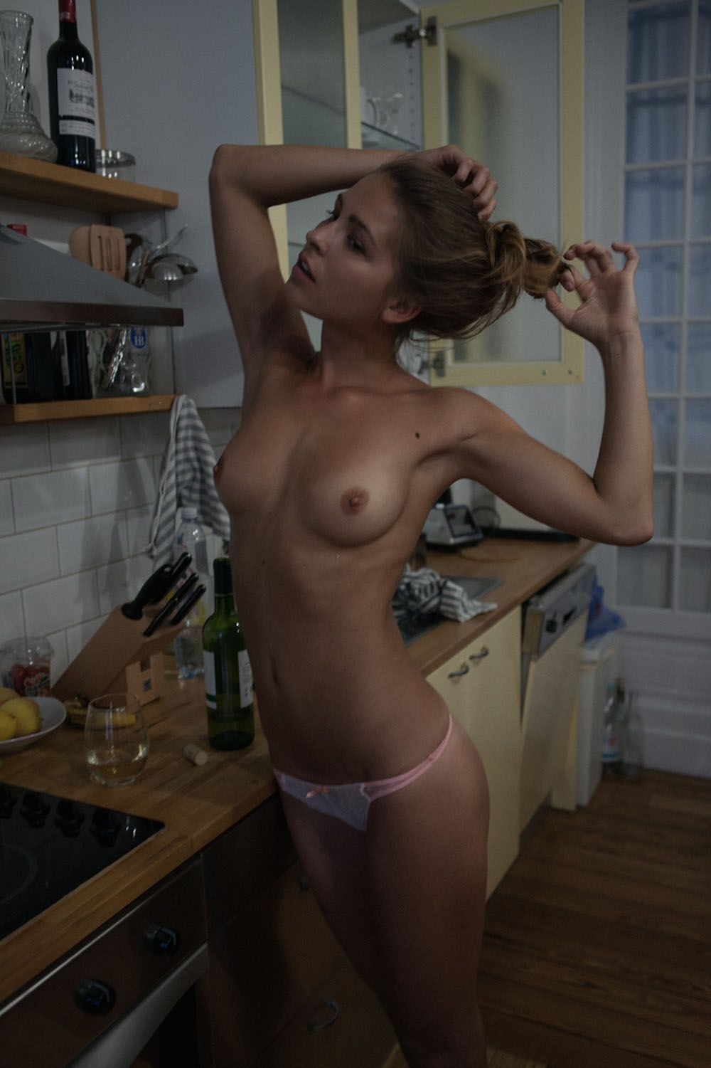 topless babes in the kitchen