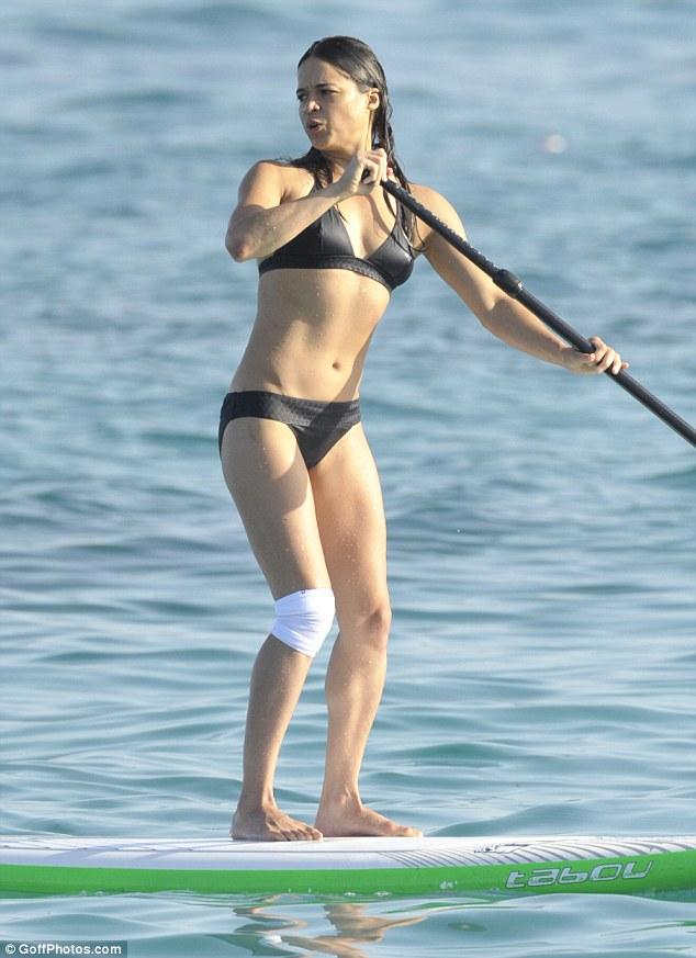 Michelle Rodriguez in a Bikini (7 Photos)