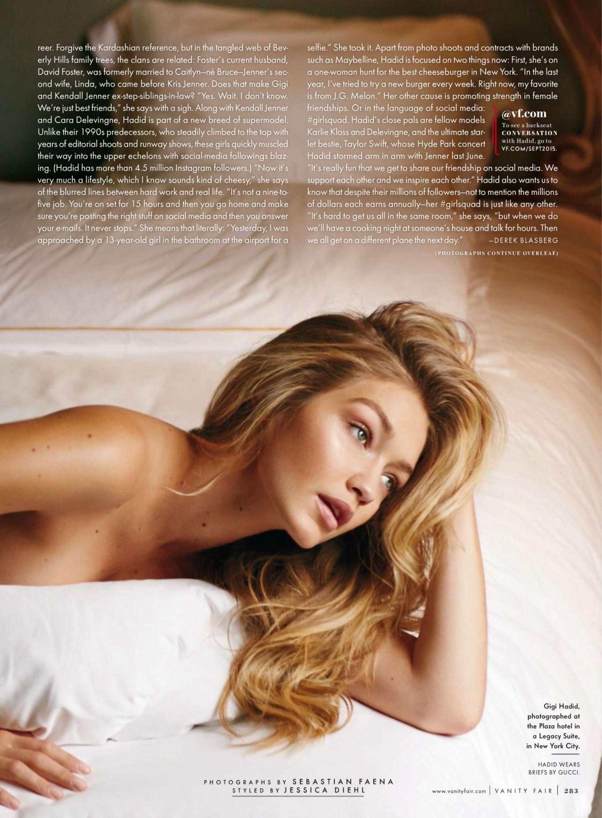 Gigi hadid topless