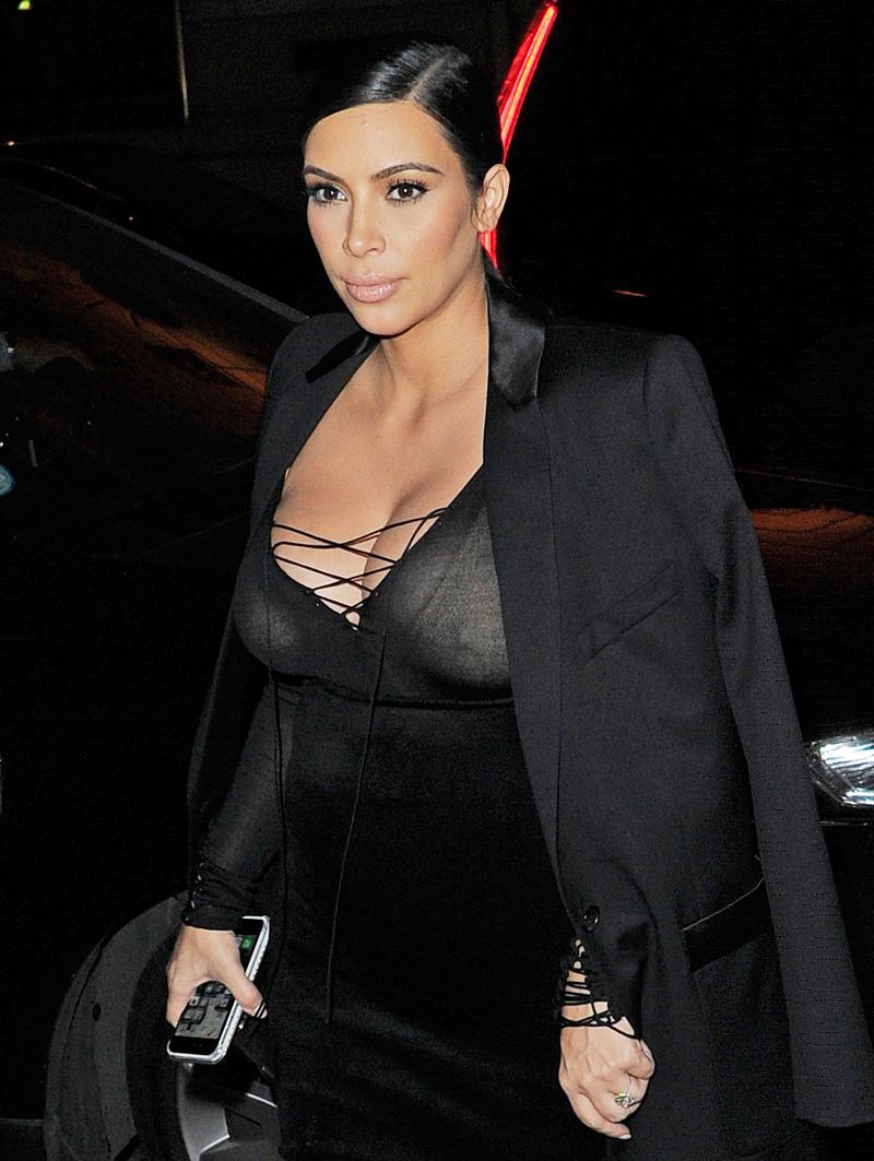 Kim Kardashian See Through (3 Photos)