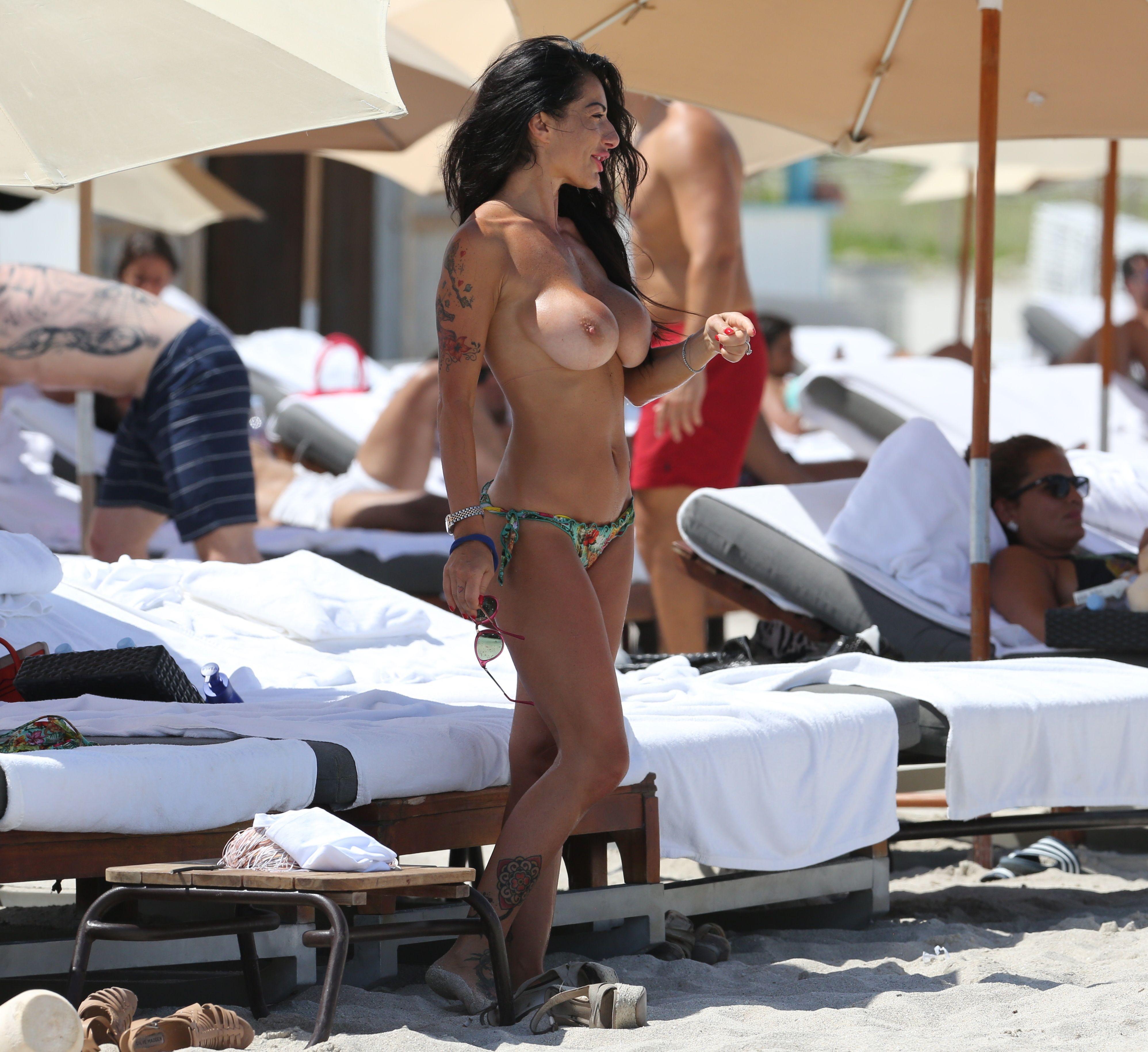 Priscilla Salerno in a Bikini & Topless (32 Photos)