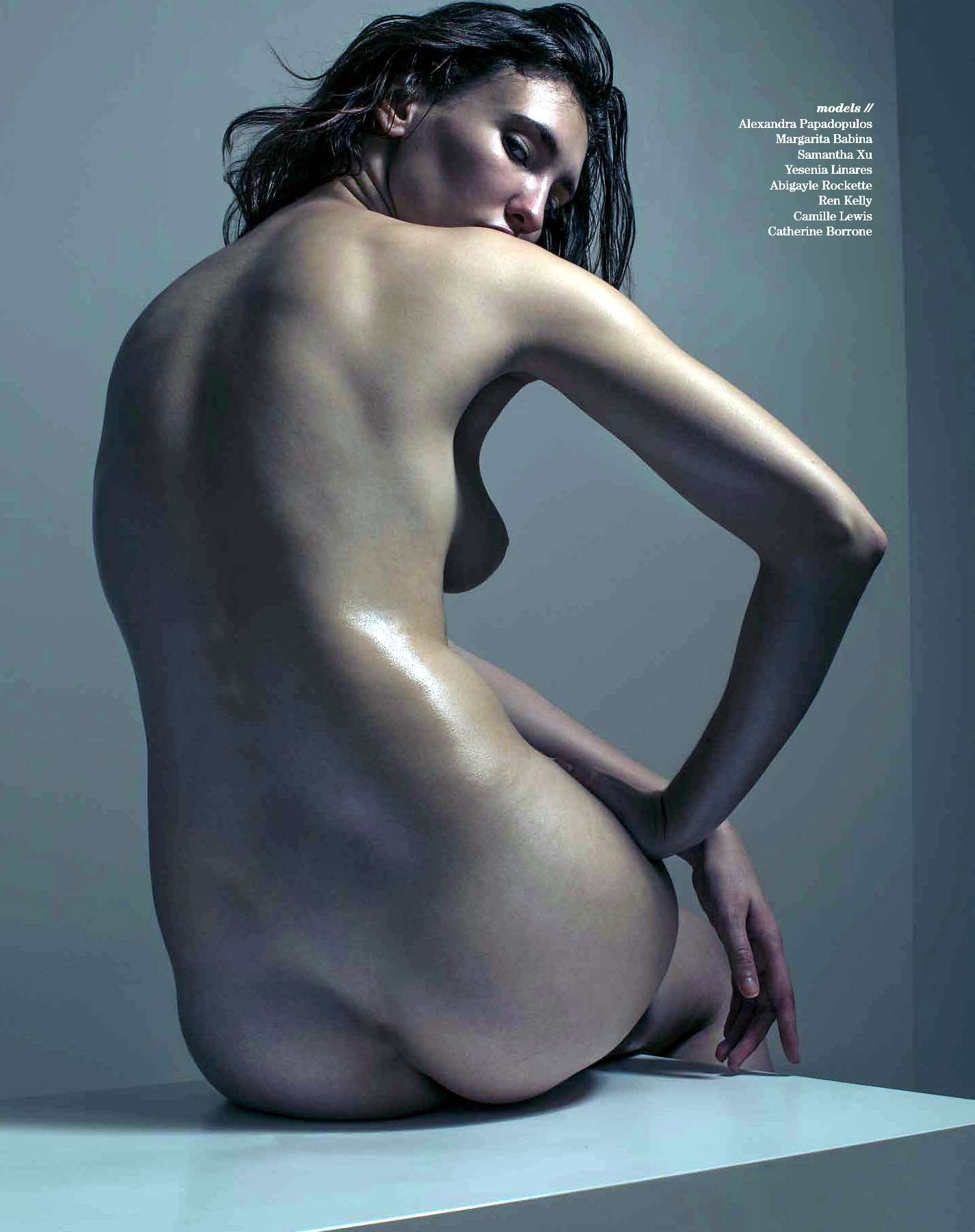 Hot Sculpt Nude photoshoot for Treats Magazine