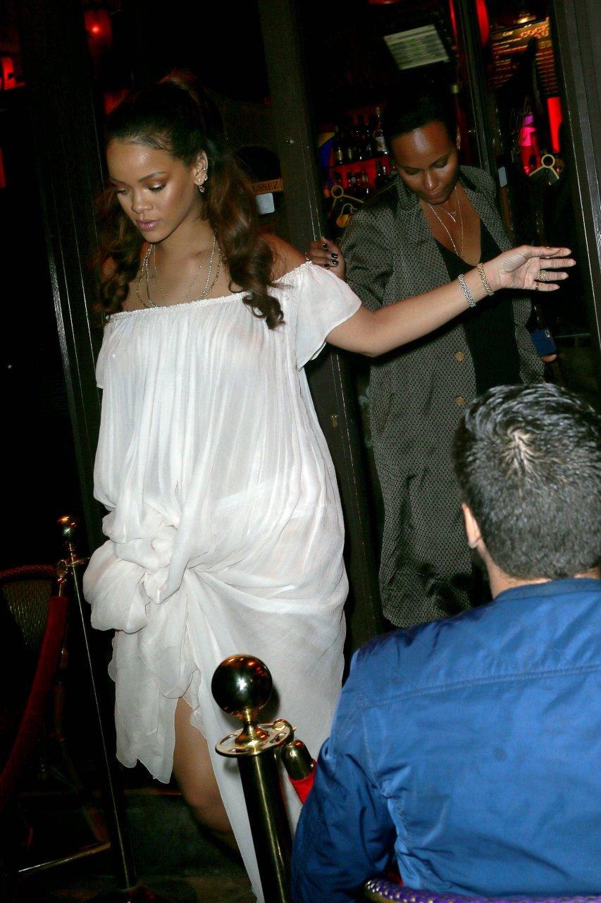 Rihanna see through paris