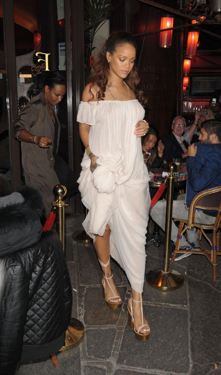 Quite good Rihanna see through paris good idea