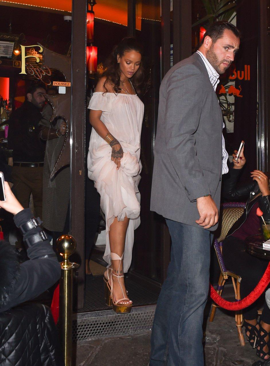 Rihanna see through paris be