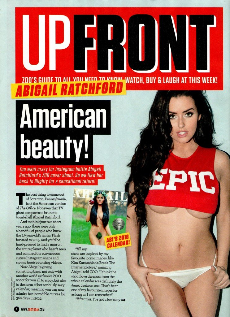 Abigail Ratchford Topless (4 Photos)