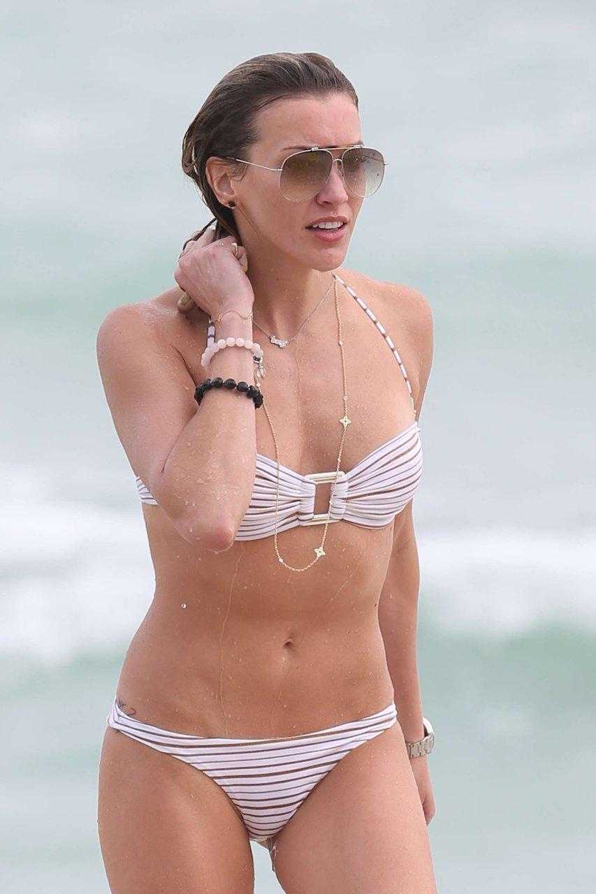 katie white bikini
