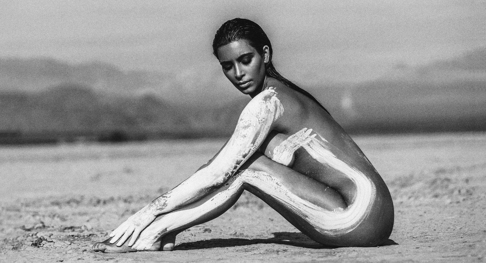 photoshoot nude Kim k