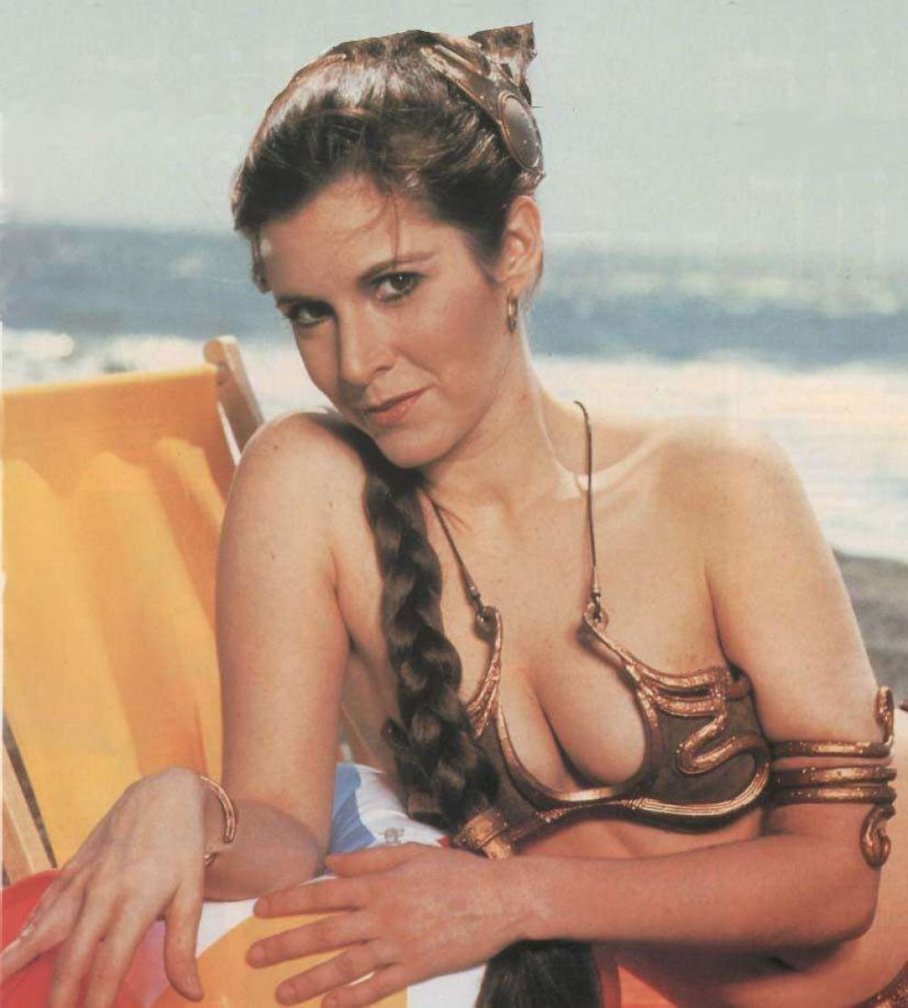 Fisher hot carrie princess leia