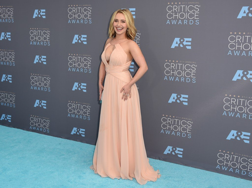 Hayden Panettiere arrives at the 21st annual Critics' Choice Awards at the Barker Hangar on Sunday, Jan. 17, 2016, in Santa Monica, Calif. (Photo by Jordan Strauss/Invision/AP)