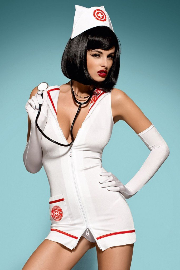 Sexy Nurse With Injection Royalty Free Stock Image