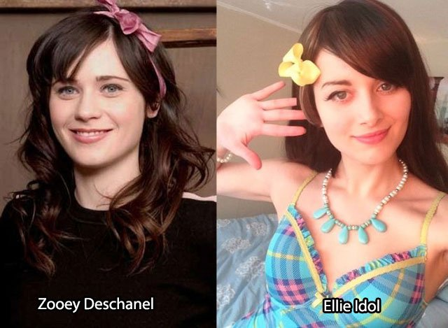 38.Zooey Deschanel Ellie Idol