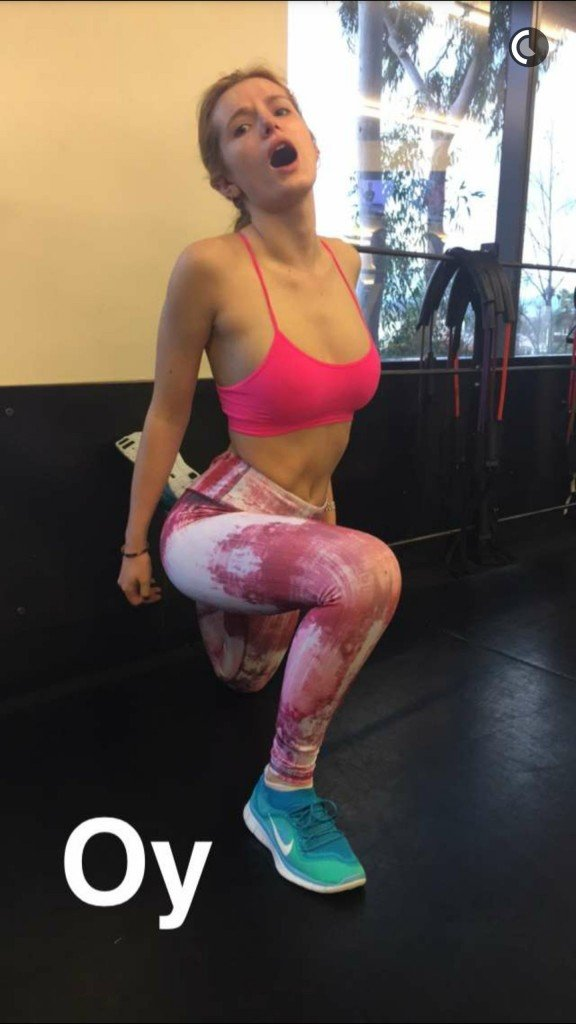 Bella Thorne in a Sport Bra (4 New Photos)