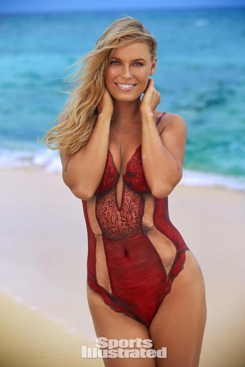 Caroline wozniacki naked bodypaint 3