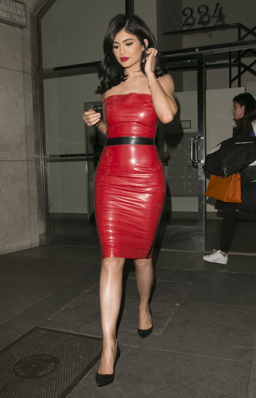 Holly Halston Latex pertaining to kylie jenner in a red latex dress (42 photos) | #thefappening