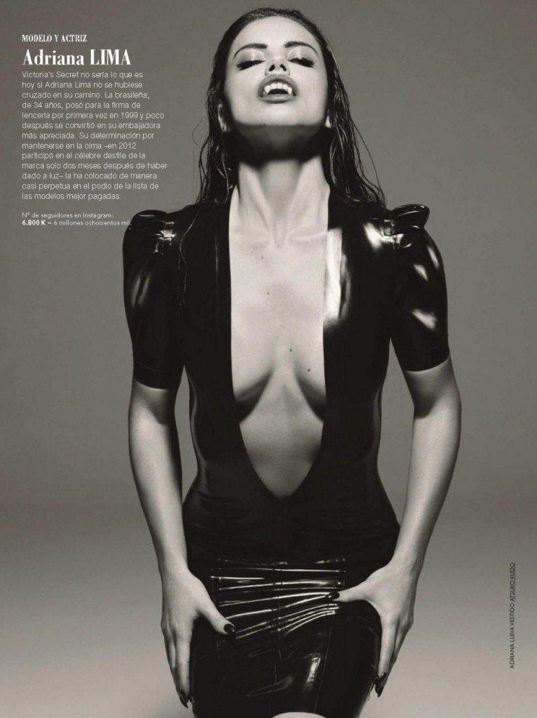 Adriana Lima Cleavage (2 Photos)