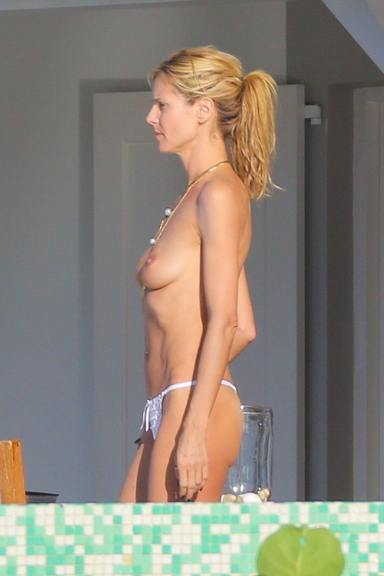 heidi klum nude boobs