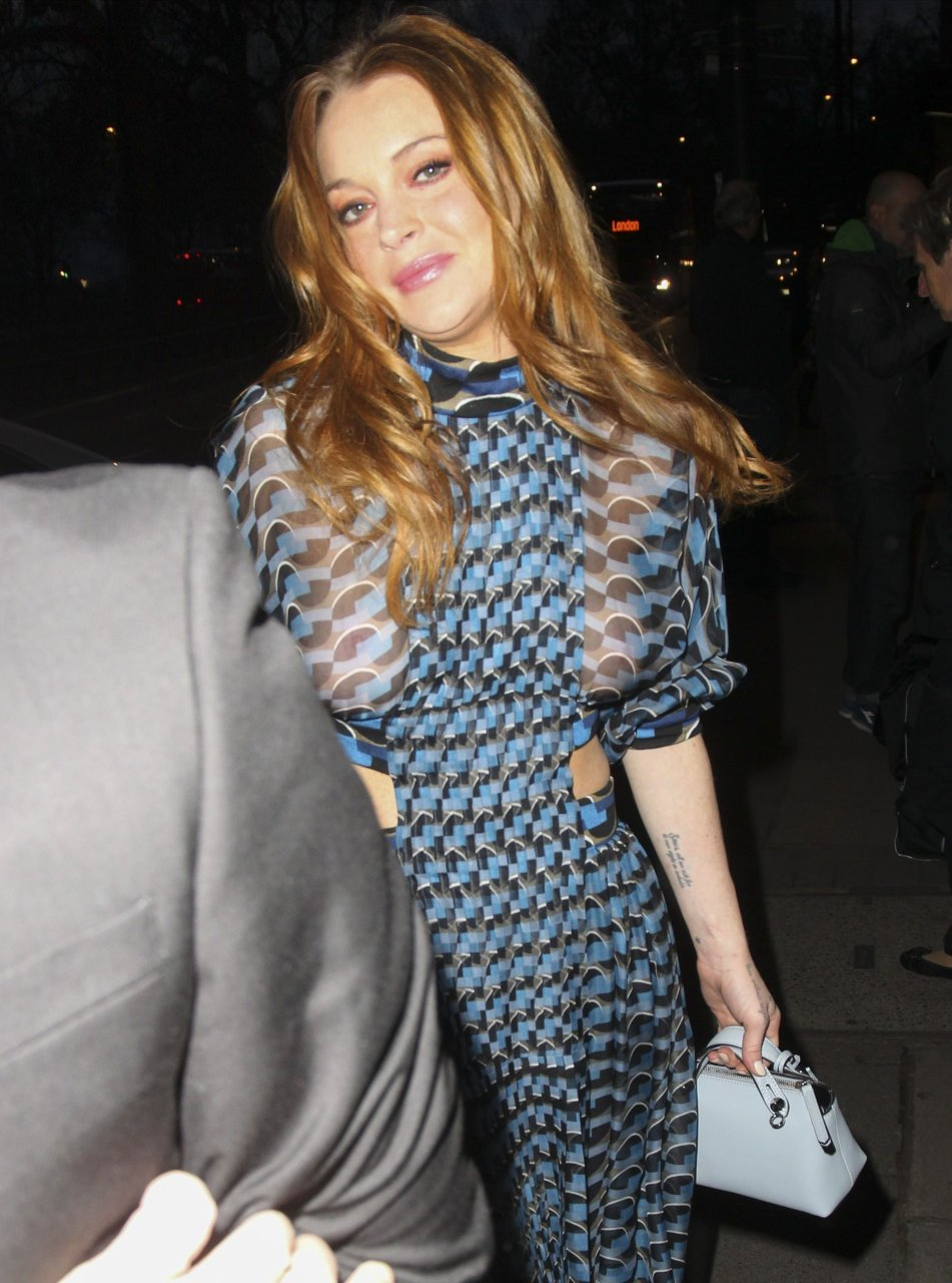 Lindsay lohan see through