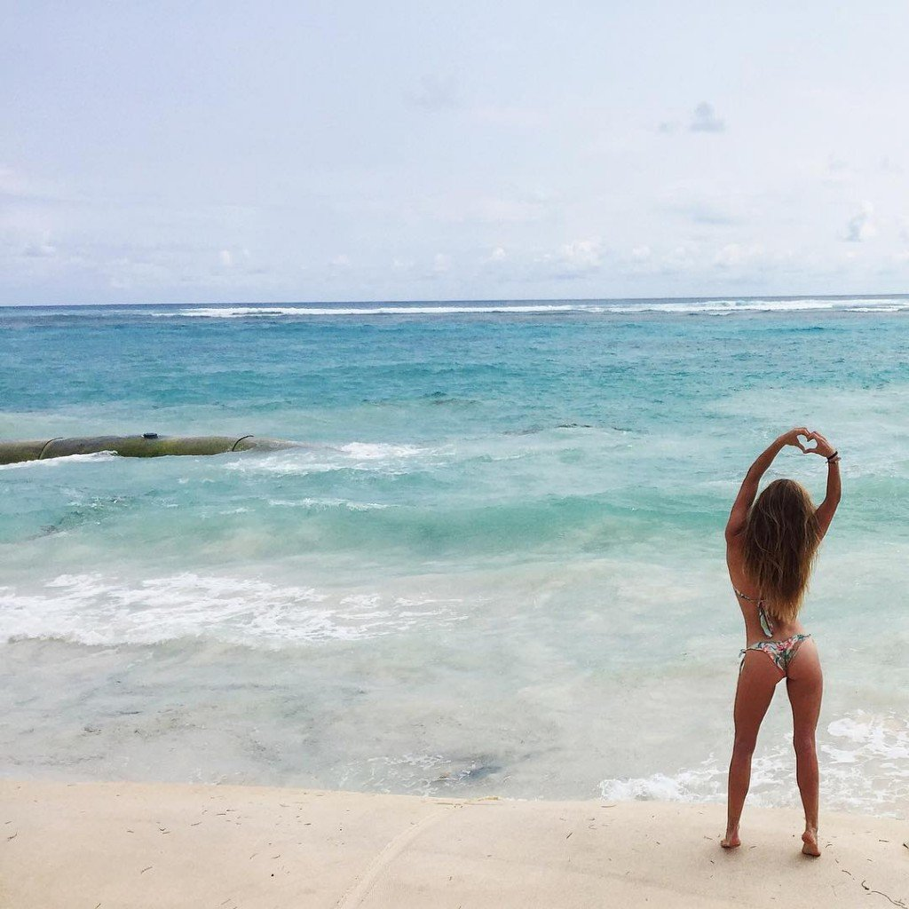 Nina Agdal in a Bikini 2