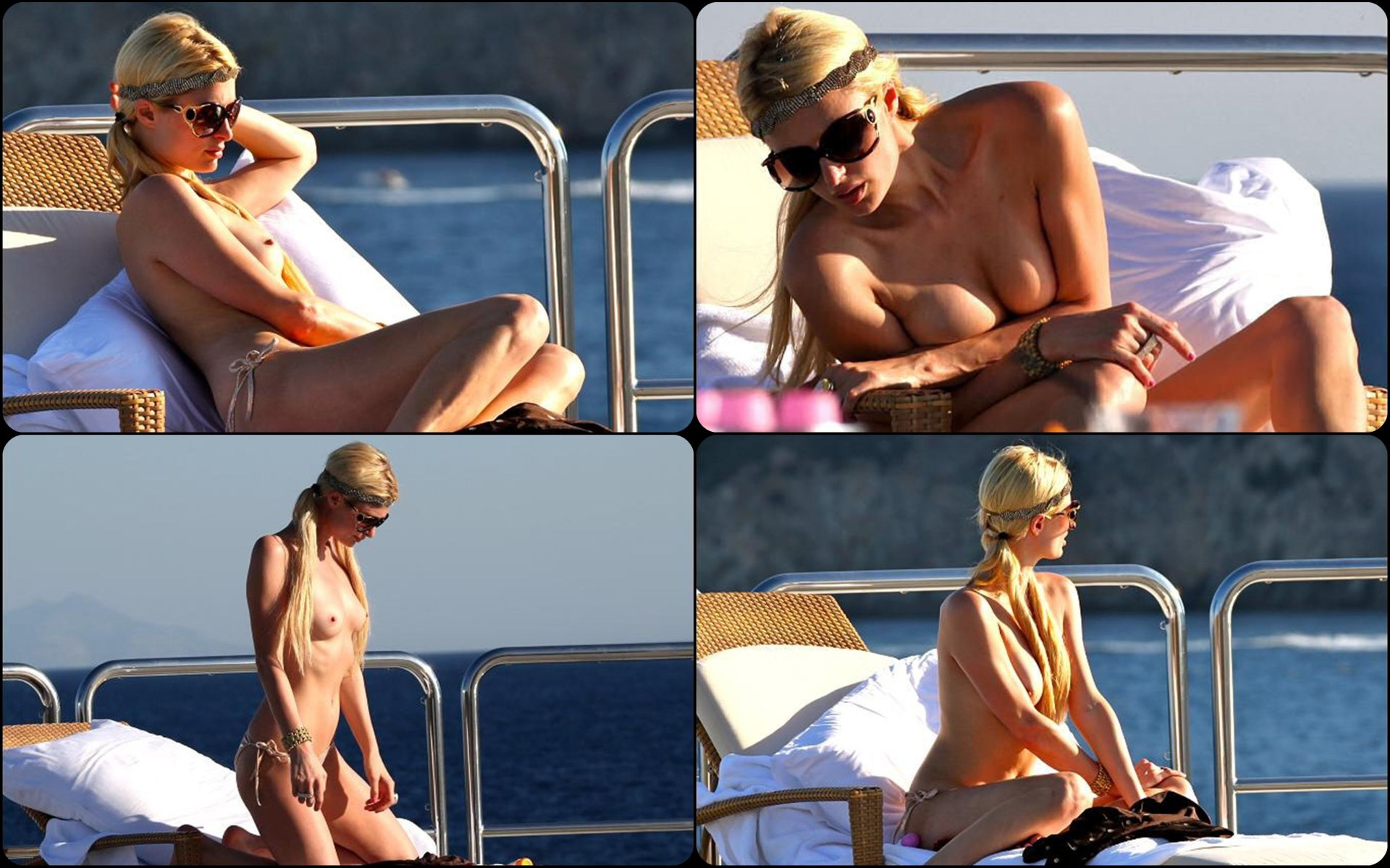 Nude Paris Hilton Kisses Girl