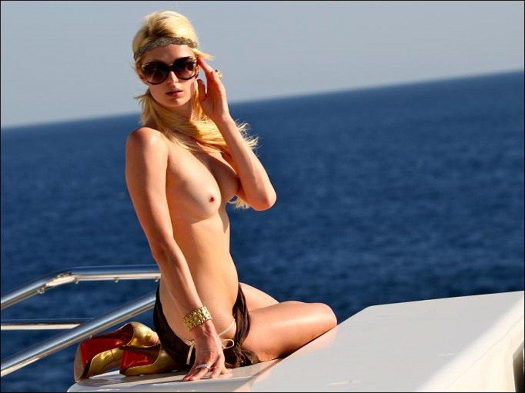 Paris Hilton's Topless Bikini Vacation Pictures