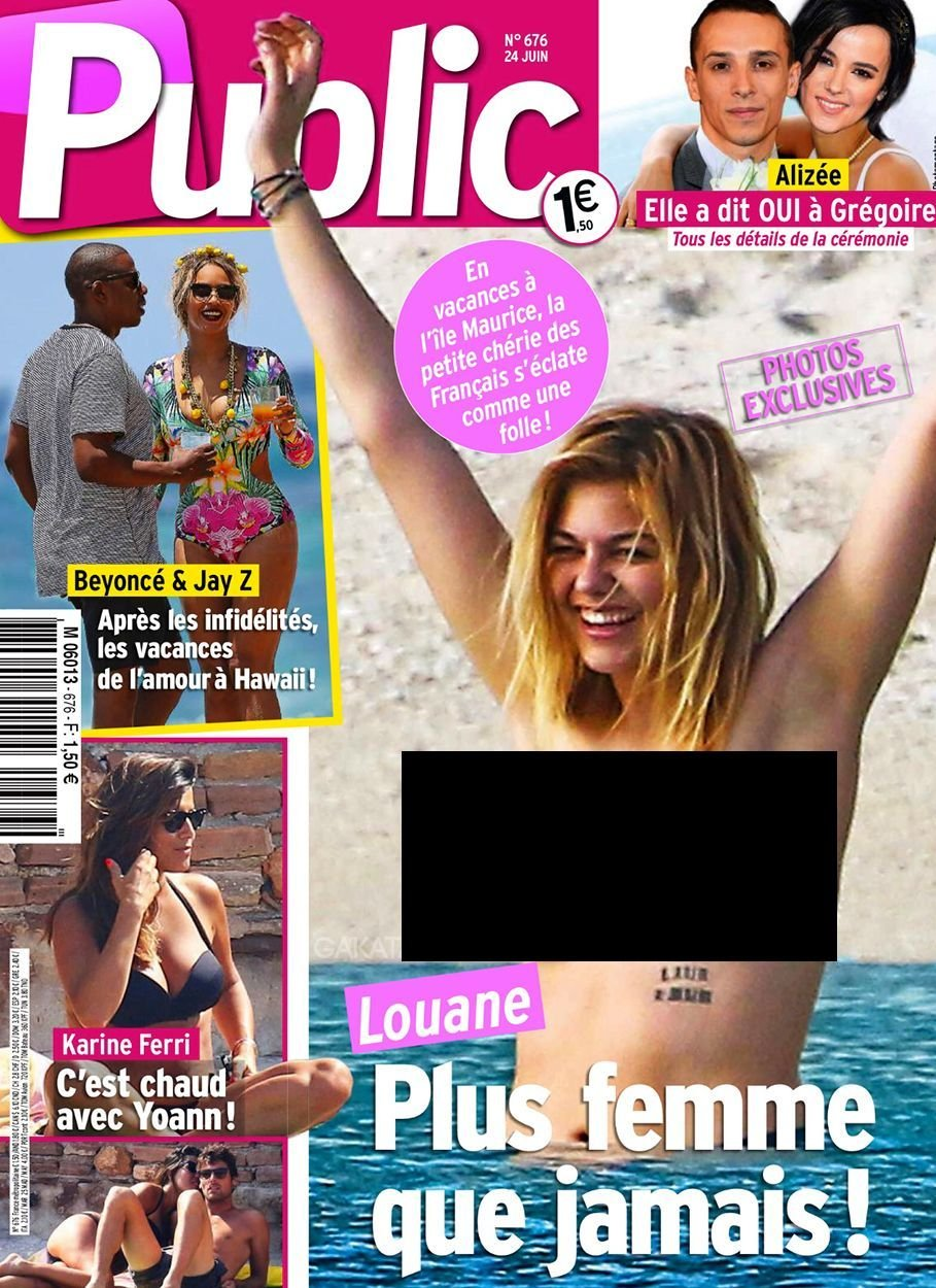 Louane Emera Topless (2 Photos)