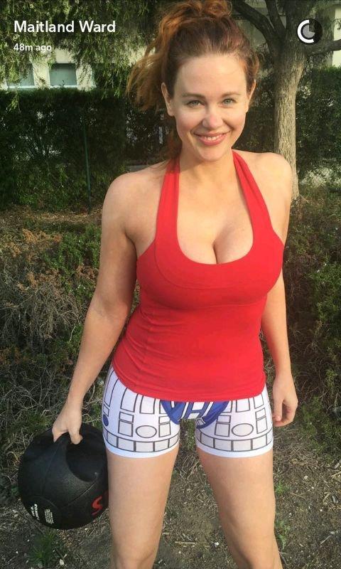 Maitland Ward Sexy (3 Snapchat Photos)