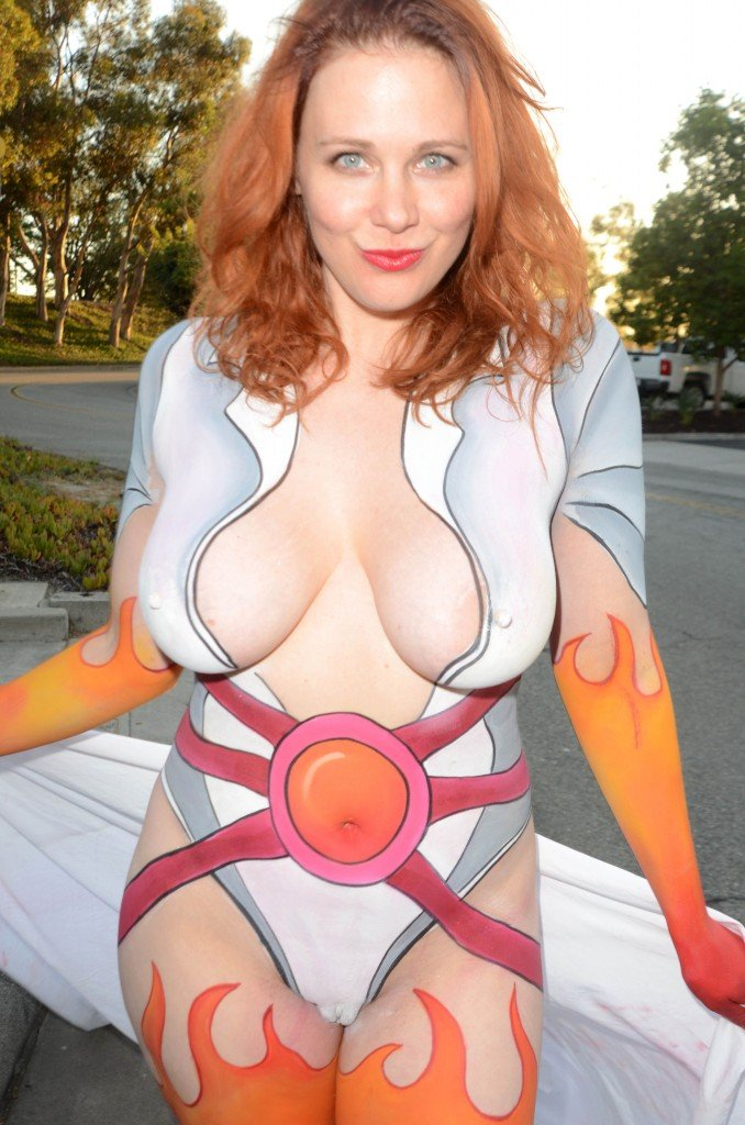 Naked Body Paint Clit
