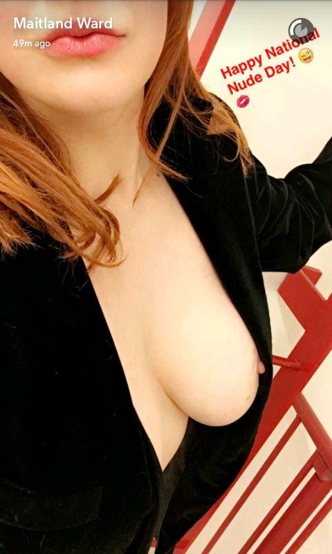 Maitland Ward Tits (6 Photos + Gif)