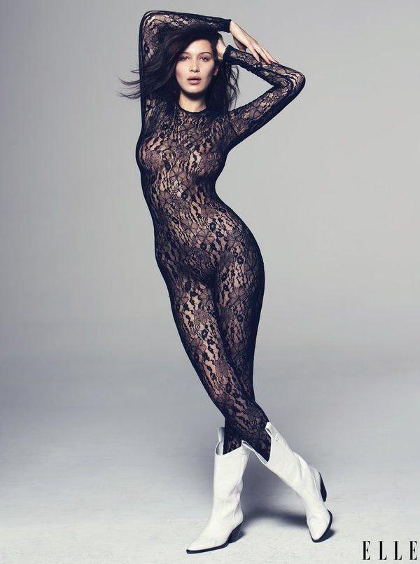 Bella Hadid Sexy ELLE 2
