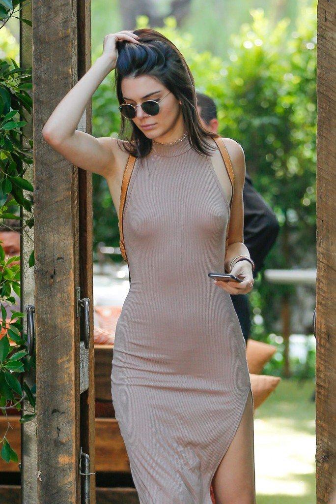 Kendall Jenner Braless 1