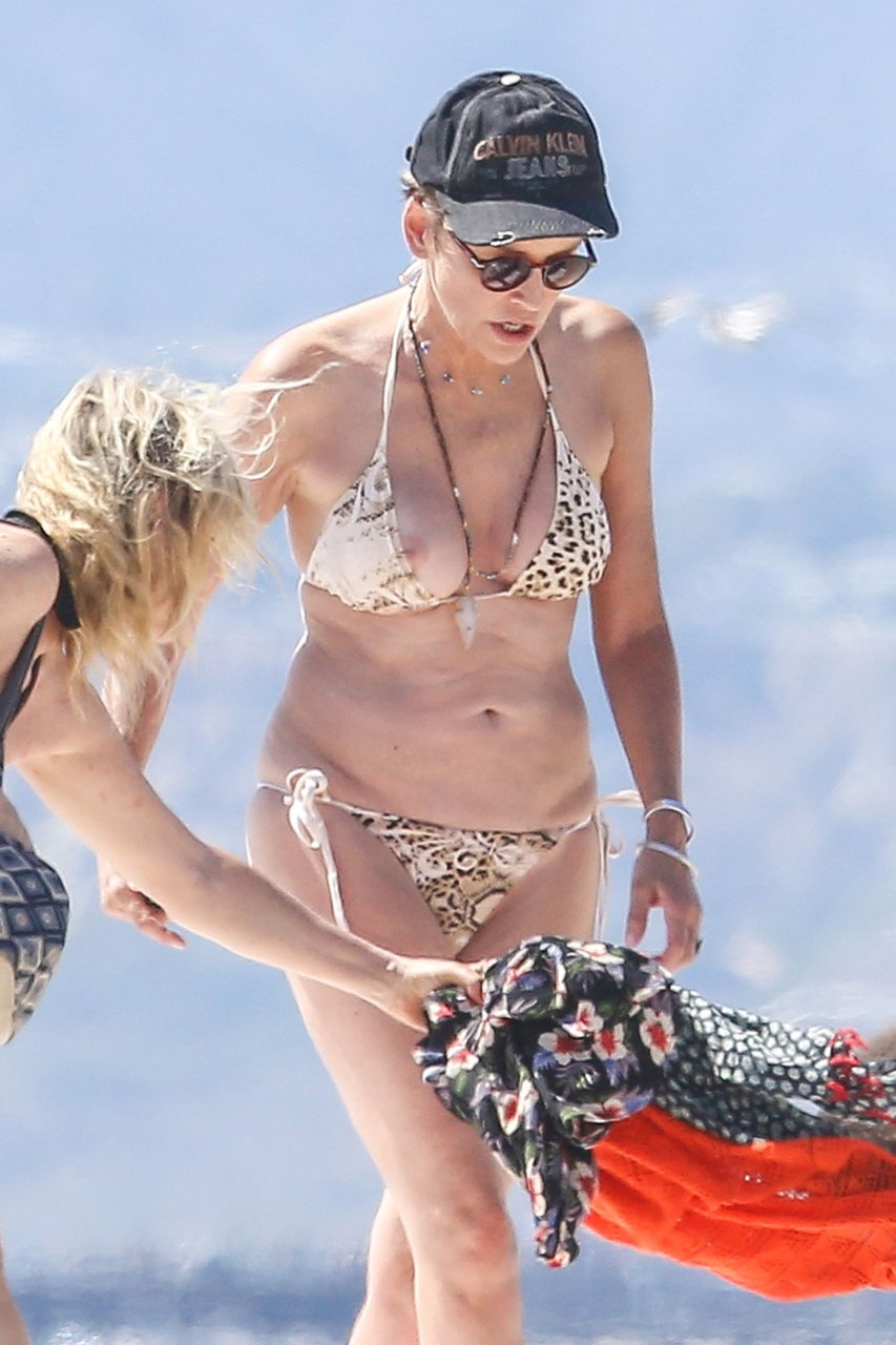 Does not Sharon stone naked at beach confirm