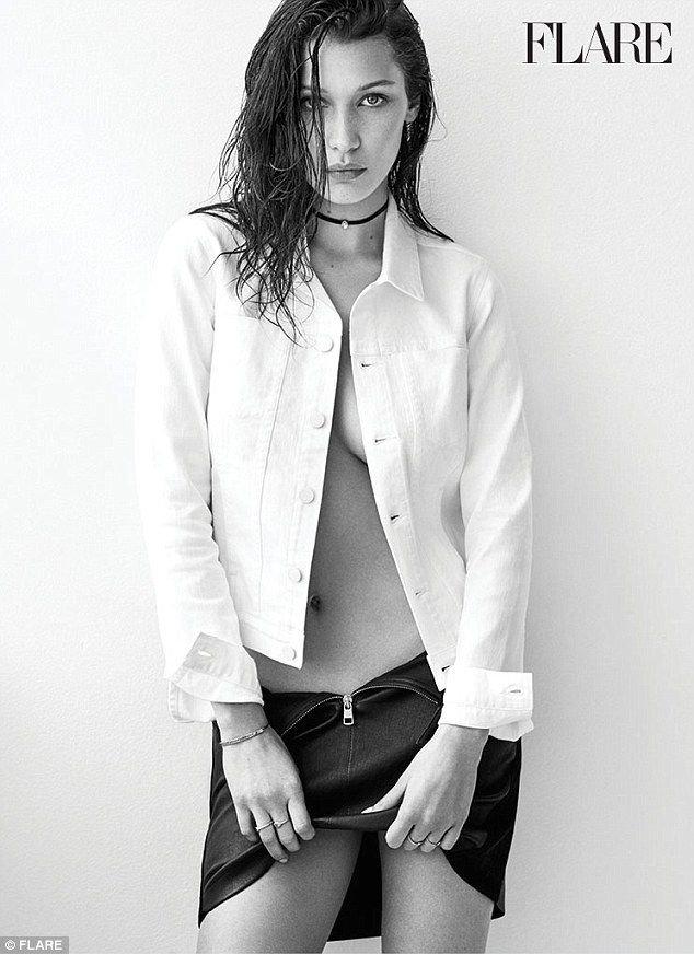 Bella Hadid Topless Sexy 4