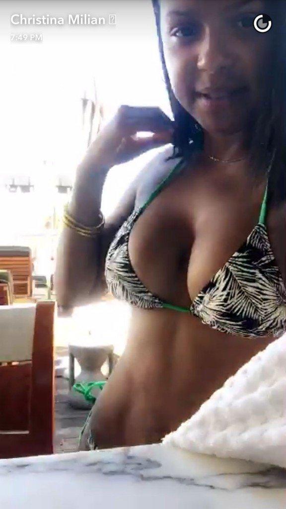 Christina Milian Selfies (4 Photos)